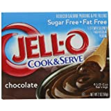 Jell-O Cook & Serve Pudding & Pie Filling, Sugar Free, Fat Free Chocolate, 2-Ounce Boxes (Pack of 24) ~ Jell-O
