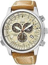 Comprar Citizen Promaster AS4020-44B - Reloj cronógrafo de cuarzo para hombre, correa de cuero color marrón