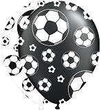 8 bedruckte Luftballons * FUSSBALL-STADION * für Party und Geburtstag // Kinder Geburtstag Party Fete Set Ballon Ballons Fussball Soccer