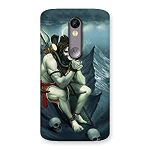 Gorgeous Om Shiva Multicolor Back Case Cover for Moto X Force