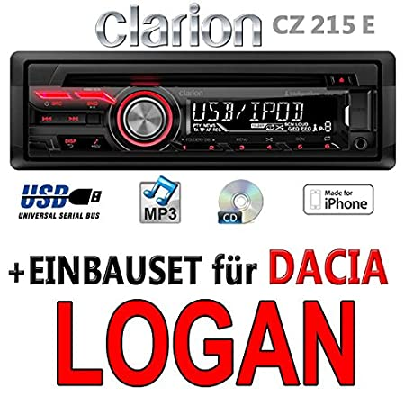 Dacia logan-clarion cZ215E-autoradio mP3/uSB avec kit de montage