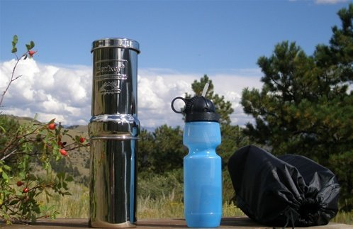 Go Berkey Kit - Portable Water Filter with Sport Bottle & Carrying Case