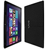 Skinomi TechSkin - Sony Vaio Tap 11 Screen Protector Ultra Clear Shield + Black Carbon Fiber Full Body Protective Skin + Lifetime Warranty