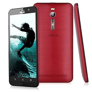 Asus ZenFone 2 ZE551ML Smartphone débloqué 4G (Ecran: 5,5 Pouces - 32 Go - 4 Go RAM - Double SIM - Android 5.0 Lollipop) Rouge