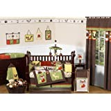 Woodland Forest Animals Owl Deer Tree Baby Boy Nature Bedding 9pc Crib Set