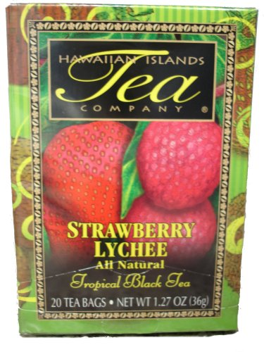 Hawaiian Islands Strawberry Lychee Black Tea 20 Tea Bags (Single Pack)