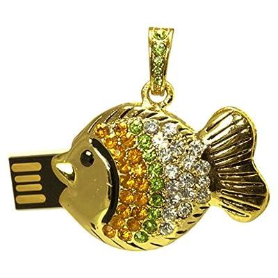 16 GB Pen Drive Golden Fish Shape USB 2.0 Pen Drive CR1032