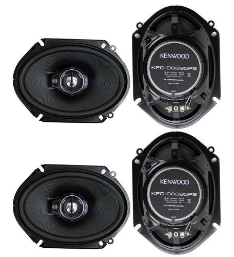 "4) New Kenwood Kfc-C6895Ps 6X8"" 720 Watt 3-Way Car Audio Coaxial Speakers Stereo"
