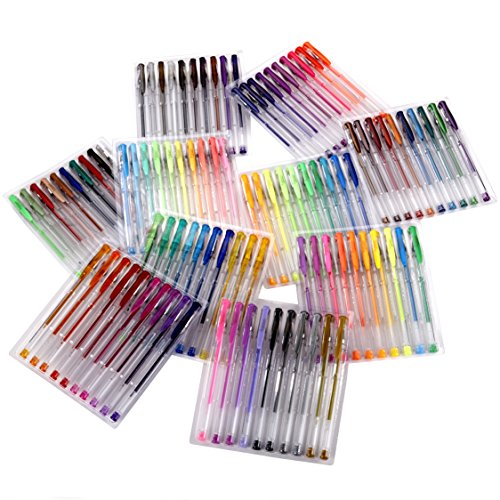 Artlicious-ULTIMATE-100-Unique-Gel-Pens-Set-No-Duplicates-60-More-Ink-Than-Other-Brands-Non-Toxic-Acid-Free-Ideal-for-Coloring-Books