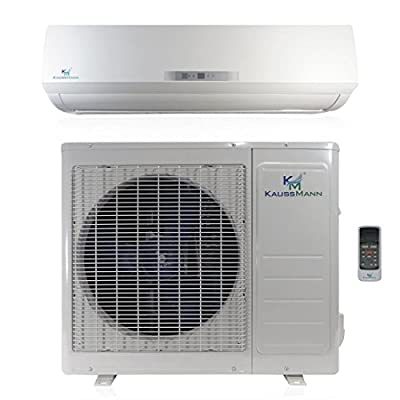 18000 Btu (1.5 Ton) 20 SEER Ductless System - Mini Split Air Conditioner, Inverter Heat Pump, Heating, Cooling, Dehumidification, Ventilation AC unit. Comes with 15 Feet Installation Kit. 208~230 VAC