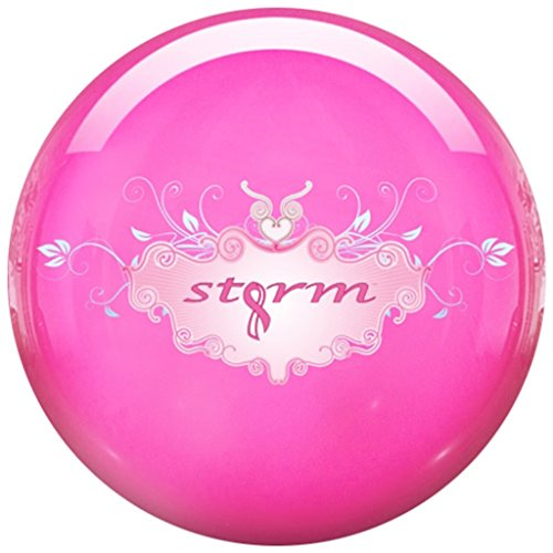 Storm Pink Clear Polyester Bowling Ball (12lbs)