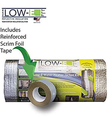 "ESP Low-E® SSR ""Non Fiberglass"" Up to 80 Gallon Water Heater Insulation Kit 6'x9', Made in the USA for over 25 Years. Includes: Low- E Reflective Insulation, Aluminum Foil Seam Tape and Self Adhered Foam Spacers. Save on Your Energy Bills, Increase the Ef"