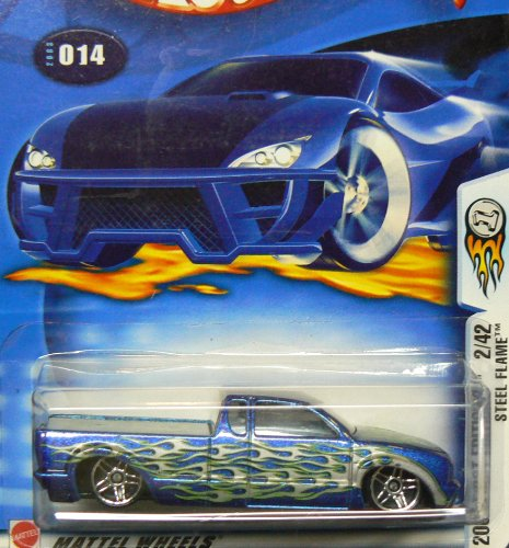 2003 First Editions #2 Steel Flame #2003-14 Collectible Collector Car Mattel Hot Wheels 1:64 Scale