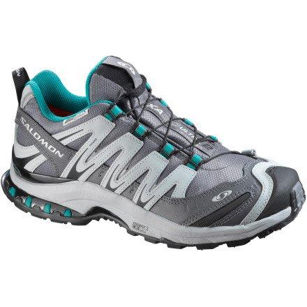 Salomon Women's XA Pro 3D Ultra 2 WP Trail Running Shoe,Bordeaux/Dove/Papya,10 M US