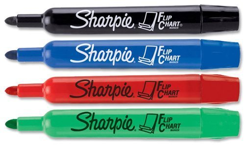 Sharpie Flip Chart Bullet Tip Marker Assorted Colours - Box of 4 (Sharpie Flip Chart Black compare prices)