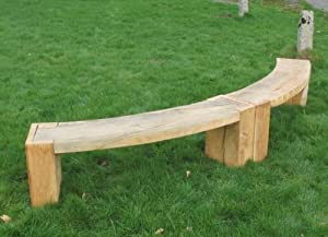 curved bench diy