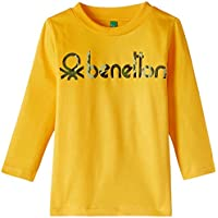 United Colors of Benetton Baby Boys' T-Shirt (15A3YR3C12JWG01B_Old Gold Yellow_0Y)