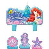 Little Mermaid Mini Molded Candles (4) Ariel Ocean Girl Birthday Party Supplies