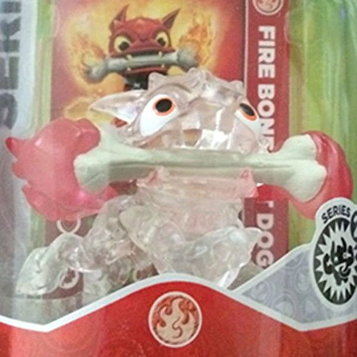 CRYSTAL CLEAR Fire Bone Hot Dog RED FLAMES VARIANT Skylanders SWAP Force Frito-Lay Promo Exclusive (Hot Dog Trap Team compare prices)