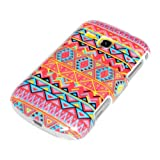 DeinPhone AR-720020 Protective Hard Case for Samsung Galaxy Mini 2 S6500 with Orange Zig-Zig Design