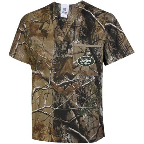 NFL New York Jets Realtree Scrub Top - Realtree Camo (Small) at Amazon.com