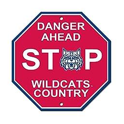 University of Arizona Wildcats College NCAA Collegiate Sports Team Logo Home Office Garage Wall Stop Sign - DANGER AHEAD WILDCATS COUNTRY