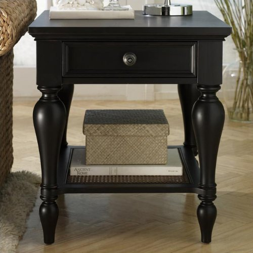 Cheap Hammary T1027221-22 Hampton Lane Rectangular Storage End Table in Matte Black (T1027221-22)