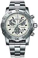 Breitling Colt Chronograph Quartz II Mens Stainless Steel Silver Face Watch A7338710/G742 by Breitling