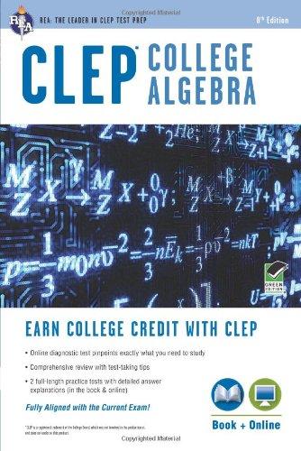 CLEP® College Algebra Book + Online (CLEP Test Preparation) (Math Programs Algebra compare prices)