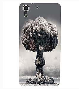 ColourCraft Beautiful Peacock Design Back Case Cover for HTC DESIRE 626