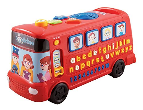 Multifunctional Alphabet Bus With Letters Numbers Music Phonics