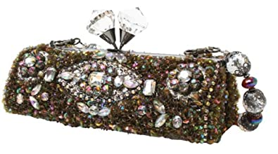 Mary Frances Outer Stratosphere Pearlescent Handheld Convertible Clutch Handbag
