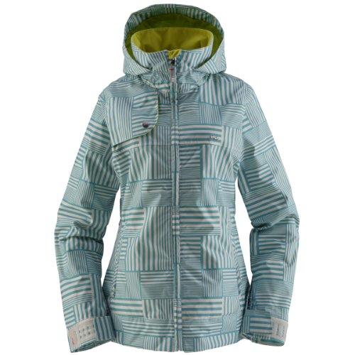 Damen Snowboard Jacke Foursquare Marissa Jacket Print Women gridlock helsinki blue L