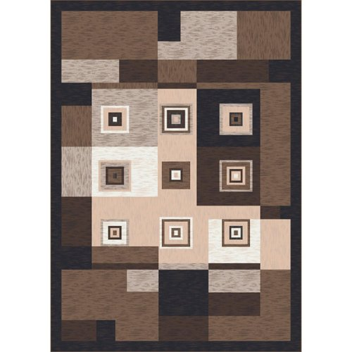 Stainmaster® Bloques Rug - Brown Leather (3