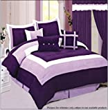 9pc Soft Micro Suede Comforter Set Include Two Extra Bonded Micro Suede Cus ....