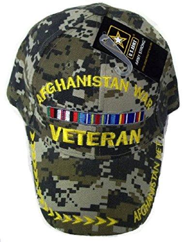 Afghanistan WAR Veteran Camo Baseball Style Embrodered Hat Ball Cap Usa Vet Iraq