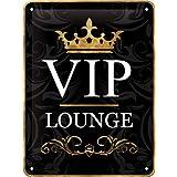 Nostalgic-Art 26123 Achtung VIP Lounge, Cartel de chapa, 15 x 20 cm