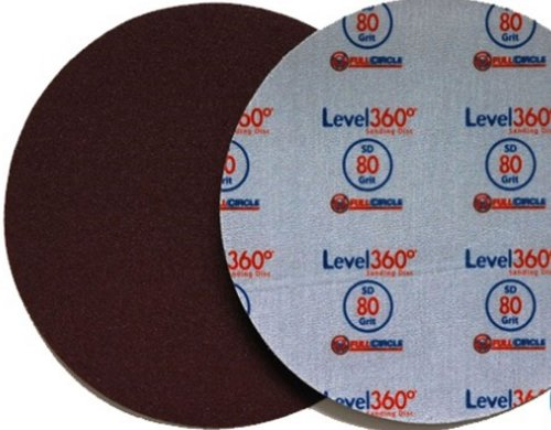 Full Circle International Inc. SD180-5 8-3/4- Level360 Sanding Disc 180 Grit for use with Radius360 sanding Tool or Drywall Power Sanding Tools