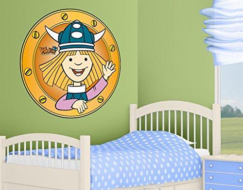 Wandtattoo Wickie Sagt Hallo Kinderzimmer Wikinger Abenteuer Junge Meer, Größe:35cm x 35cm jetzt kaufen