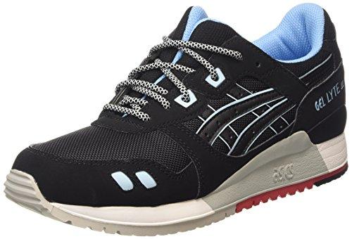 ASICS Gel-lyte Iii H637y-9090-9, Unisex-Erwachsene Sneakers, Schwarz (black/black 9090), 41.5 EU thumbnail