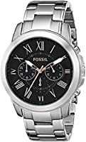 Fossil Men's FS4994 Grant Chronograph Stainless Steel Watch - Silver-Tone by Fossil