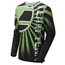 Tenn Mens Breeze MTB/Downhill Cycling Jersey - Lime Green - Lrg
