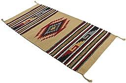Onyx Arrow Southwest Décor Area Rug, 20 x 40 Inches, Eagle Eye Red/Tan
