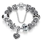 A-TE-Armband-Charms-Blumen-Glasperlen-Herz-Armbandanhnger-Damen-Geschenk-20cm-JW-B110