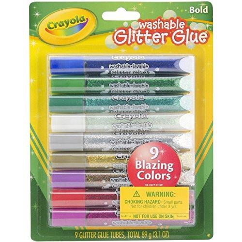 Washable Glitter Glue - Bold, 9 pk - 1