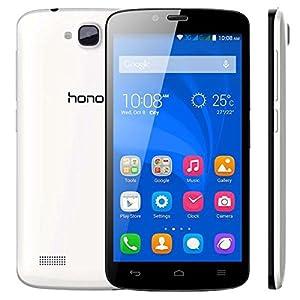 HUAWEI Honor Holly Smartphone 3G con tarjeta Micro SD gratis de 8 GB gratis (5 pulgadas de pantalla táctil con la batería de duración de 48 horas 1,3 GHz Quad-Core 16GB ROM 1 GB de RAM 8MP cámara trasera de 2MP frontal Cámara Android 4.4 Emotion UI 2.3)
