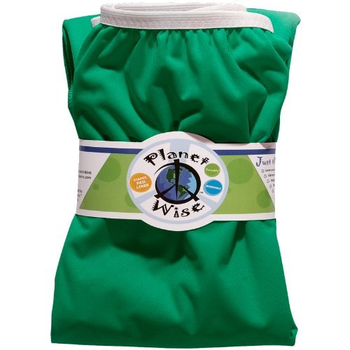 Planet Wise Reusable Diaper Pail Liner, Green Color: Green Newborn, Kid, Child, Childern, Infant, Baby back-451050