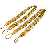 SODIAL(R) 2 Rope curtain tiebacks - slender slinky rope cord drape hold backs fabric ties