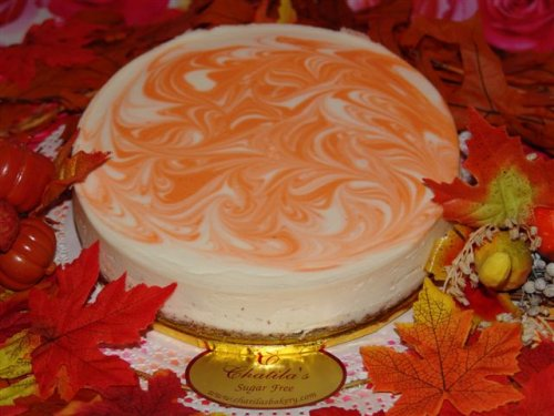 Agave Sweetened Gluten-Free Pumpkin Cheesecake-NY Style