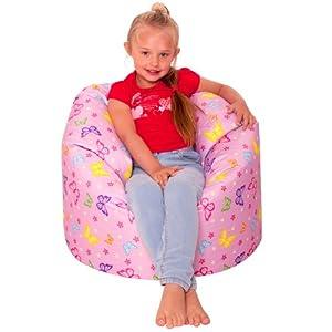 Icon Designer Butterflies Girls Bean Bag Large Pink Kids